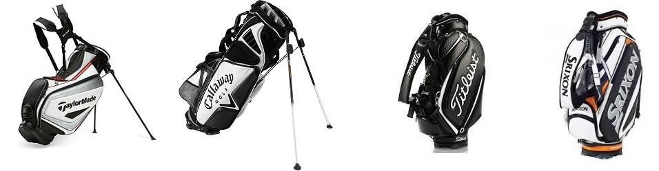 Golfbagar och golfbollar